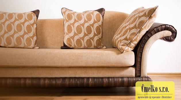 Tepovanie čalúnenej a čistenie koženej sedačky a  20% zľava na ďalšie služby