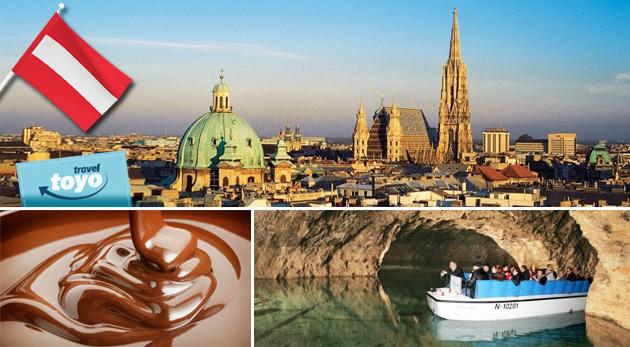 Skvelý program na víkend - návšteva centra Viedne, svetoznámej čokoládovne a jaskynného jazera
