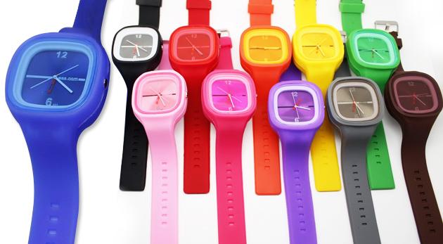 Multifarebné silikónové hodinky Jelly alebo Slap - najnovší výkrik módy!