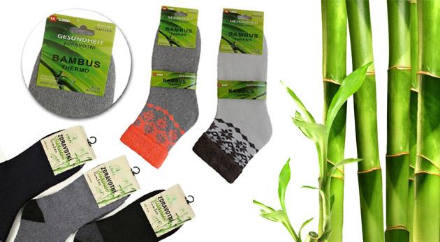 Kvalitné termo ponožky z bambusového vlákna - pánske aj dámske modely