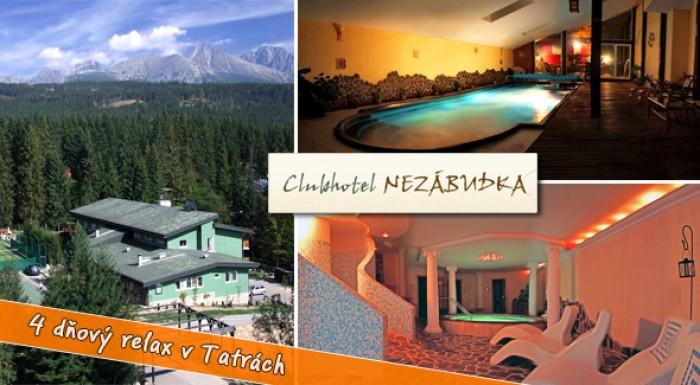 Relaxačné 4 dni v Tatranskej Štrbe pre 1 osobu. Platnosť až do júna 2012.