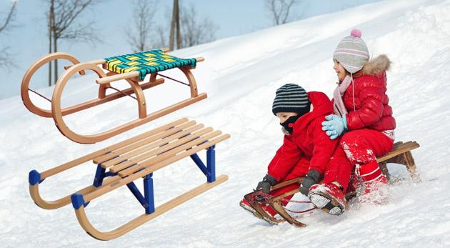 Detské drevené sánky - prichystajte sa na tuhú zimu!