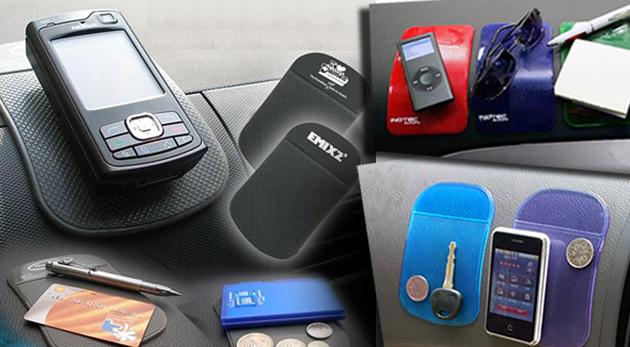 Fotka zľavy: Praktická nanopodložka s priľnavým povrchom len za 1,79€ dokáže zabrániť gravitácii! Mobil, okuliare či navigácia v aute alebo v kancelárii odteraz ostanú vždy na svojom mieste! Akcia 3+1 zadarmo!