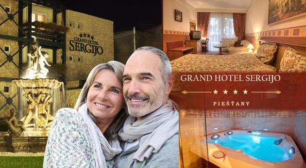 Oddych pre seniorov v GRAND BOUTIQUE HOTEL SERGIJO**** v Piešťanoch