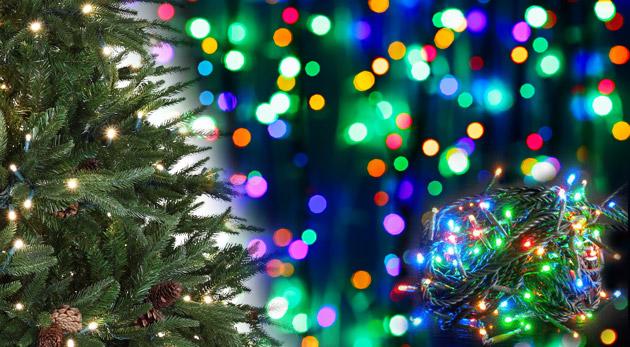 Fotka zľavy: Vianočné osvetlenie so 100 LED žiarovkami len za 5,40 €! Rozžiarte dom, záhradu, plot či stromček úsporným osvetlením. Na výber až 4 farebné prevedenia.