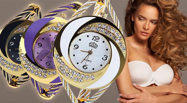 Fotka zľavy: Atraktívne dámske náramkové hodinky bez zapínania len za 9,90€ v štyroch farebných prevedeniach. Elegancia a štýl v jednom -  ozdoba vášho zápästia!