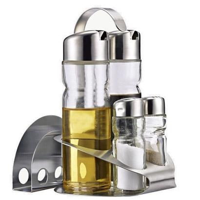 Stolová súprava na olej, ocot, soľ, korenie a servítky