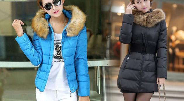 077e1a26dbd7 Namakaná dámska zimná bunda s efektnou kožušinkou a skvelým strihom ...