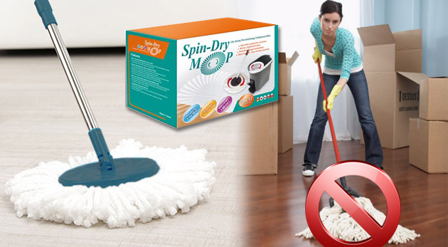 Rotačný mop Spin – Dry s 3 mopovými hlavicami