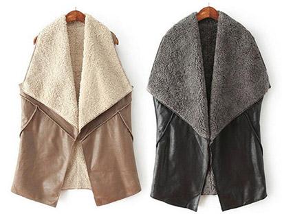 3115e7c5f496 dámska zateplená koženková vesta. vesty