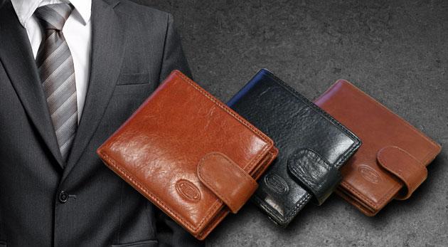 Kožené pánske peňaženky v elegantnom prevedení troch farieb ... b6dbfaaa505