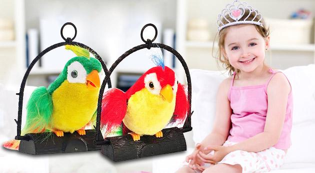 Potešte deti zábavnou hračkou - hovoriacim papagájom