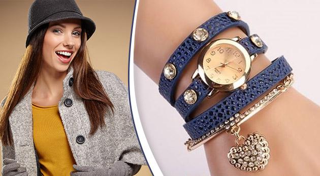 Elegantné dámske hodinky s ozdobným náramkom alebo nežným príveskom 42c51392ab7