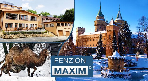 Relax v bojnickom Penzióne Maxim s polpenziou a wellness blízko zámku a ZOO