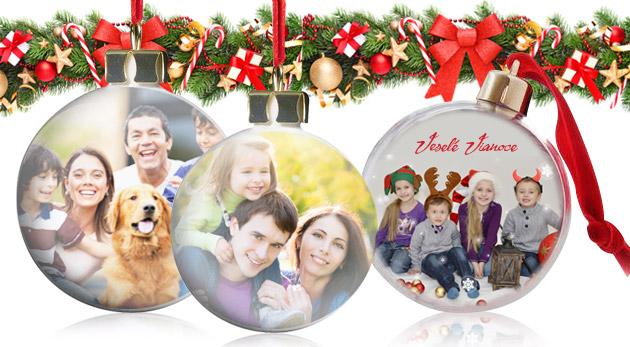 Jedinečná ozdoba - vianočná guľa s vlastnou fotografiou be6b5bd92da