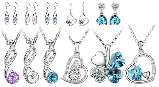 Set šperkov s náušnicami a retiazkou s príveskom 3f392e1ab6f
