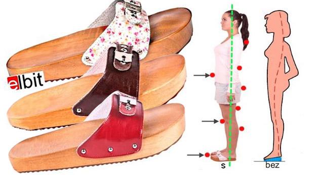 Dreváky so špeciálne upravenou podrážkou pre zdravú chrbticu i fit postavu