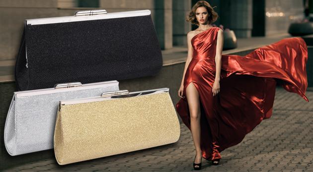 Fotka zľavy: Krásna listová kabelka na spoločenské príležitosti len za 6,50 €. Vyberte si z troch trendy farieb a zažiarte!