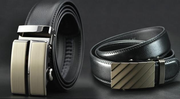 Luxusný kožený pánsky opasok s oceľovou prackou cea24fa3843