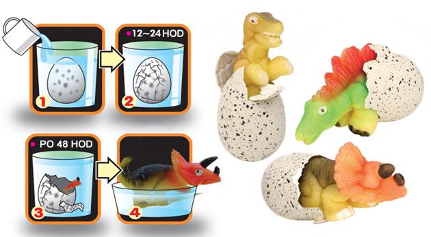 Vyliahnite si vlastného dinosaura! 3 kusy dinosaurích vajec pre každé zvedavé dieťa
