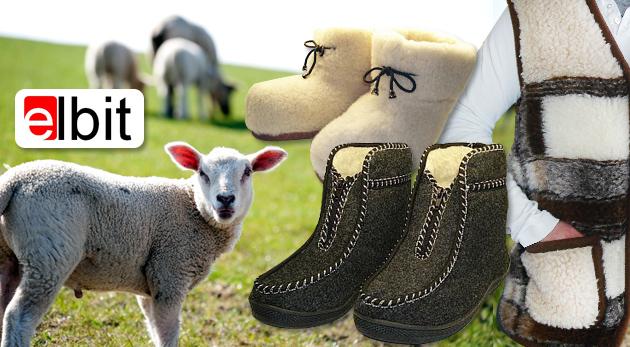 Mäkké papuče, kapce či hrejivá vesta z pravej ovčej vlny