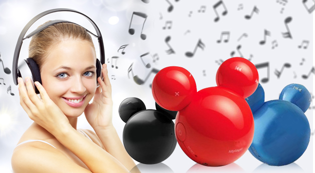 Fotka zľavy: Hravý MP3 prehrávač s motívom rozprávkovej postavy pre malých hudobných nadšencov len za 4,90 €. Je ľahký a malý, takže sa zmestí do každého vrecka!