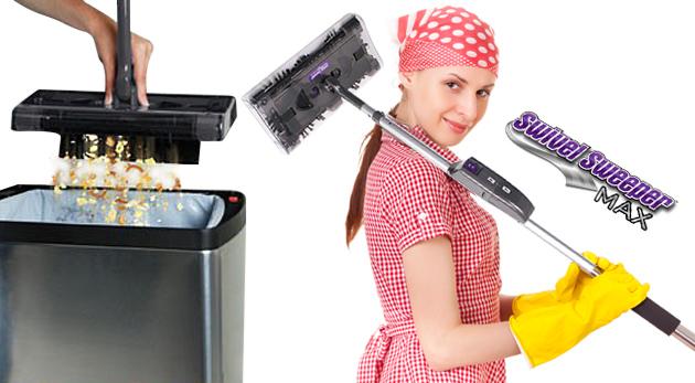 Swivel Sweeper Max- vylepšená bezkáblová mechanická metla pre rýchle a efektívne čistenie