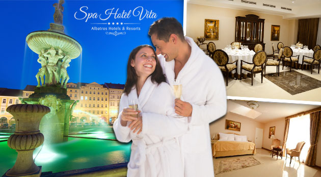 Pohodlie a luxus v Hoteli Albatros Vita****Superior v Českých Budějovicích s raňajkami a wellness