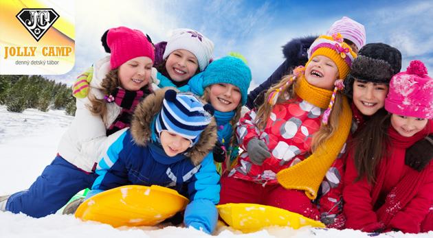 Denný tábor Jolly Camp pre deti počas vianočných prázdnin - celodenný program, strava a pitný režim v cene.