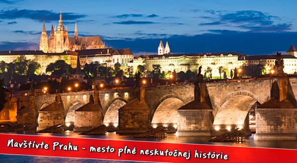 Fotka zľavy: Užite si 3 dňový pobyt v dvojici len za 55€ v stovežatej Prahe. Ubytovanie v trojhviezdičkovom Hoteli Bohemians pri brehu Vltavy s 53% zľavou.