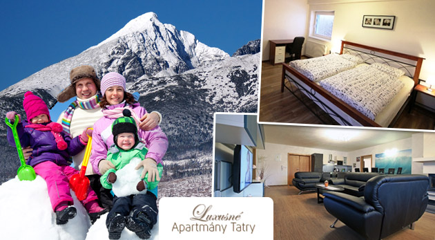 Fotka zľavy: Komfort v srdci Vysokých Tatier počas 3 alebo 5 dní v luxusných Apartmánoch Nezábudka**** už od 72 € pre 2, 4 alebo 6 osôb. Zoberte rodinu alebo partiu kamarátov na skvelú lyžovačku a zimný relax!