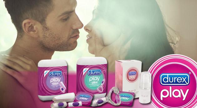 Šteklivé intímne chvíle s návlekom Durex Play Touch, krúžkom Durex Play Ultra, gélom Durex Play O či celým Durex Play balíčkom!