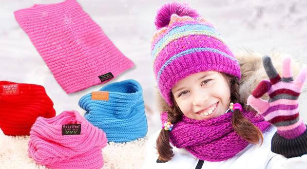 Fotka zľavy: S detským nákrčníkom len za 3,99 € zima už na vaše deti nedosiahne! Zaobstarajte vašim ratolestiam praktický doplnok v jednej zo štyroch farieb.