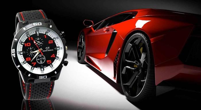Fotka zľavy: Štýlové pánske hodinky značky GT Grand Touring v piatich farbách len za 6,99 € vrátane poštovného a balného. A navyše odolné voči poškriabaniu!