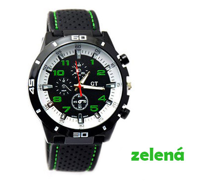 Pánske hodinky značky GT Grand Touring, farba zelená