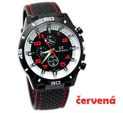 Pánske hodinky značky GT Grand Touring, farba červená