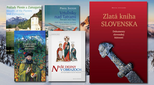 Fotka zľavy: Vianočný darček v podobe knihy z Vydavateľstva Matice slovenskej už od 3,90 € aj s poštovným! Obdarujte blízkych alebo potešte seba jedným z piatich lákavých titulov.