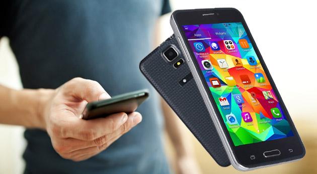 Fotka zľavy: Vybavte seba alebo svojich blízkych novým mobilom - štýlový dotykový smartfón Alps C3000 na 2 SIM karty v čiernej alebo bielej farbe len za 87 € s operačným systémom Android a duálnym fotoaparátom.