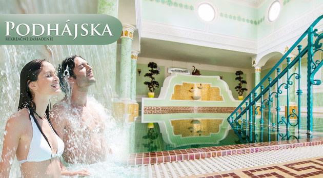 Dokonalý relax v Drevenici - Zrube v Podhájskej blízko termálneho kúpaliska s jedinečnou slanou vodou