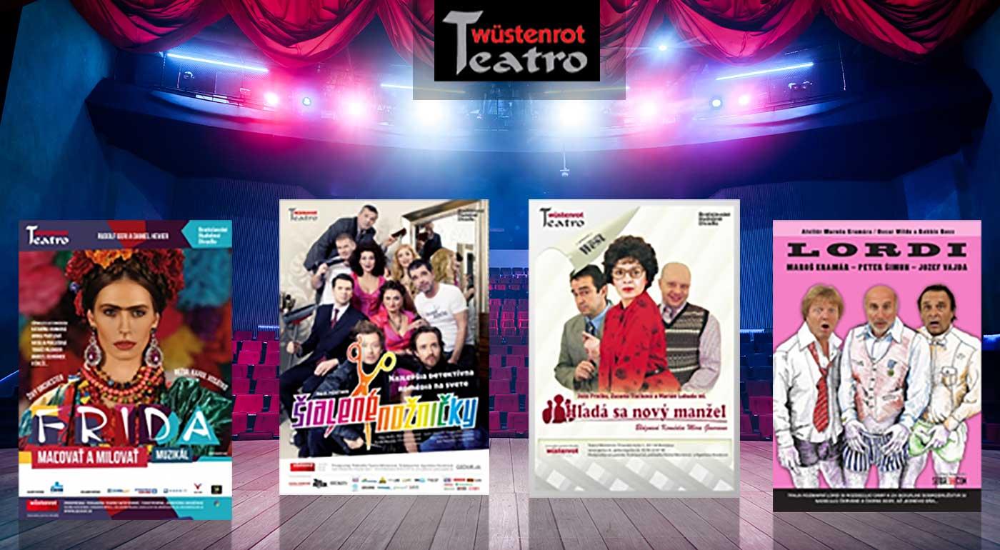 Vstupenka do divadla Teatro Wüstenrot v Bratislave na predstavenie podľa vlastného výberu