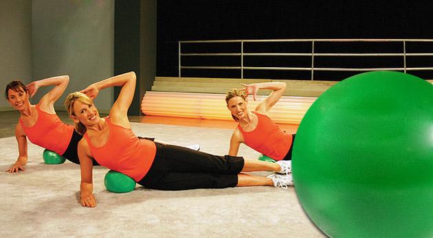 Fit lopta určená na rôzne druhy cvičení