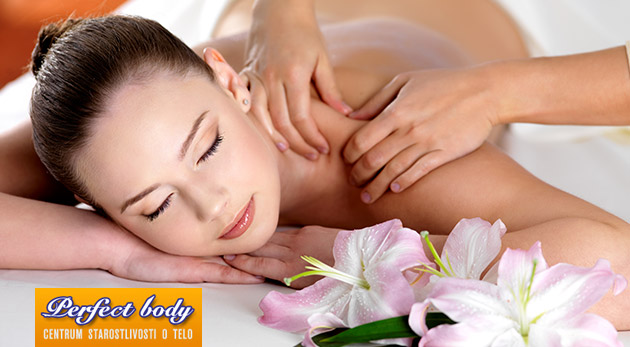 Liečebná 30-minútová masáž chrbta alebo celotelová 60-minútová masáž v Perfect Body