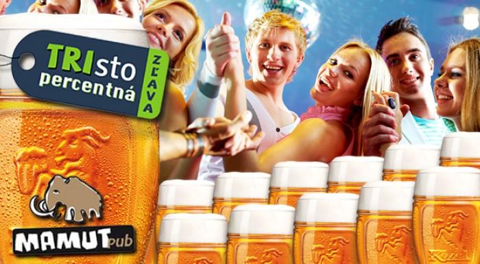 TRIsto percentná zľava - tankové pivo zadarmo
