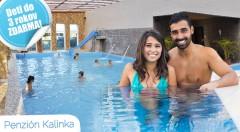 Zľava 40%: Trojdňová očista organizmu v Penzióne Kalinka v podobe neobmedzeného vstupu do termálnych bazénov, sáun či fitness už od 55€ spolu s polpenziou alebo raňajkami.