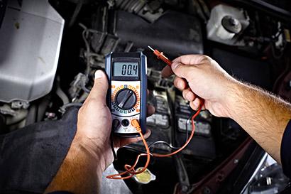 ontrola elektrického systému vozidla