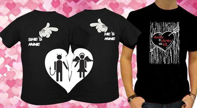 066cc4cc0254 Valentínske tričká pre zamilovaných v páre alebo jednotlivo