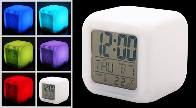 Digitálny LED budík s viacerými funkciami