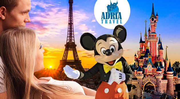 Nezabudnuteľný 5-dňový zájazd do Paríža a Disneylandu s CK Adria Travel s dopravou, hotelovým ubytovaním a raňajkami