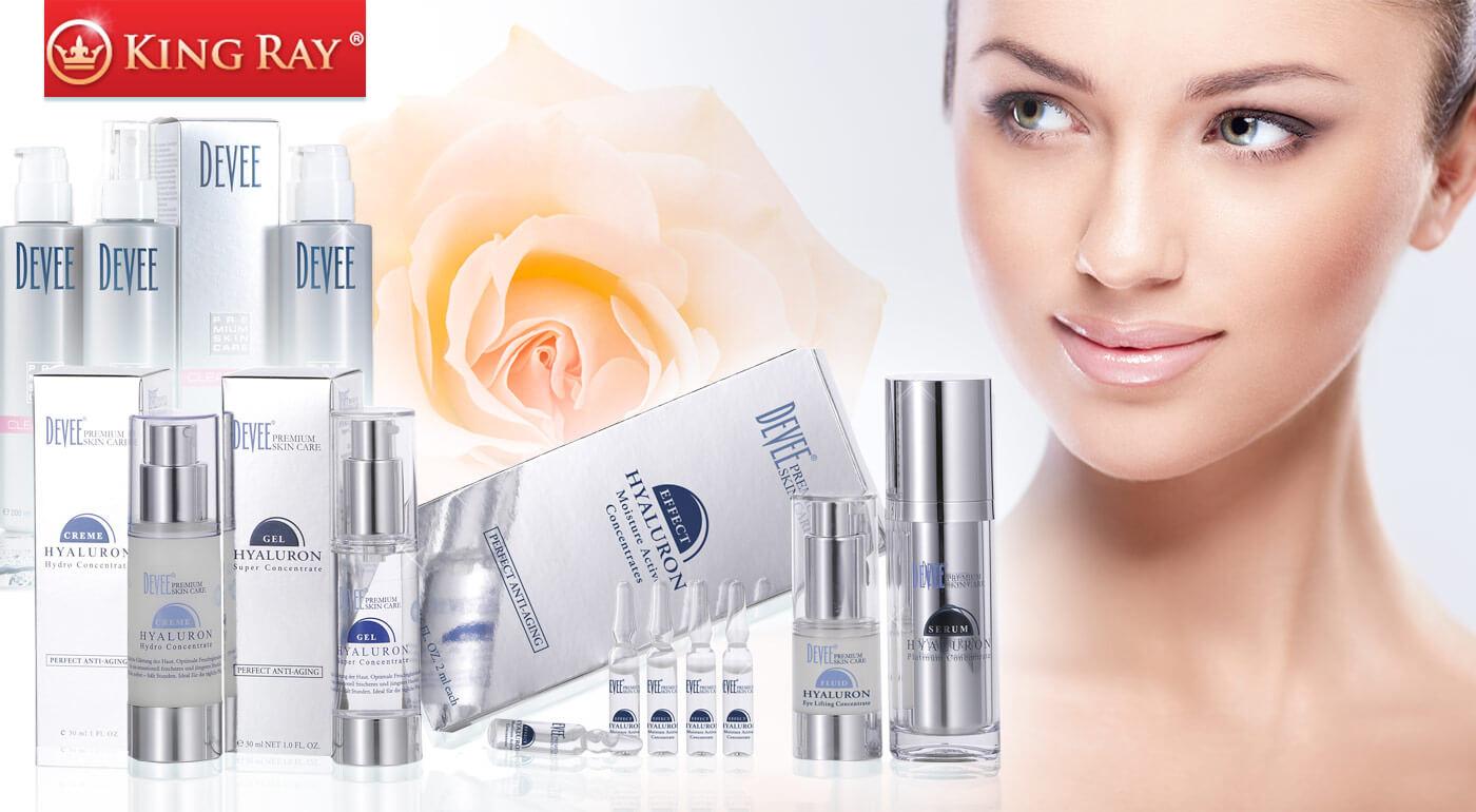 Fotka zľavy: Kozmetika Devee - gél kyseliny hyalurónovej, superkoncentrát, ampulky, očný lifting, telové mlieko, čistenie pleti, sérum alebo hyalurónový krém
