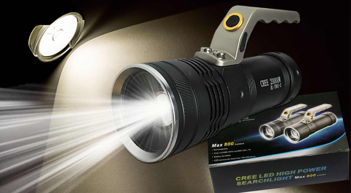 Fotka zľavy: Praktická LED baterka s funkciou ZOOM, s dosahom lúča až 600 m a tromi režimami svietenia len za 19,90 €. V balení aj 2 dobíjateľné baterky spolu s nabíjačkou. Svieťte s profesionálnym vybavením!